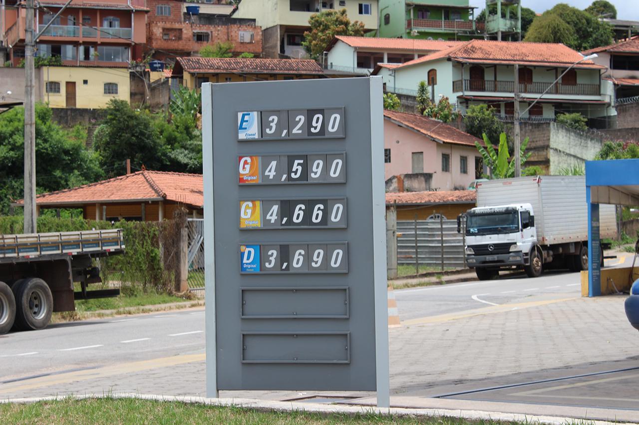 Postos de combustíveis em Itabira reajustam os valores da gasolina