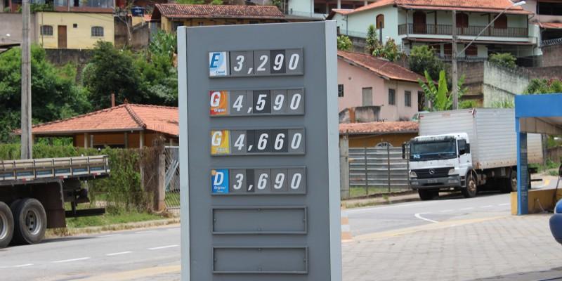 Gasolina tem novo aumento nesta quinta-feira em todo estado de Minas Gerais