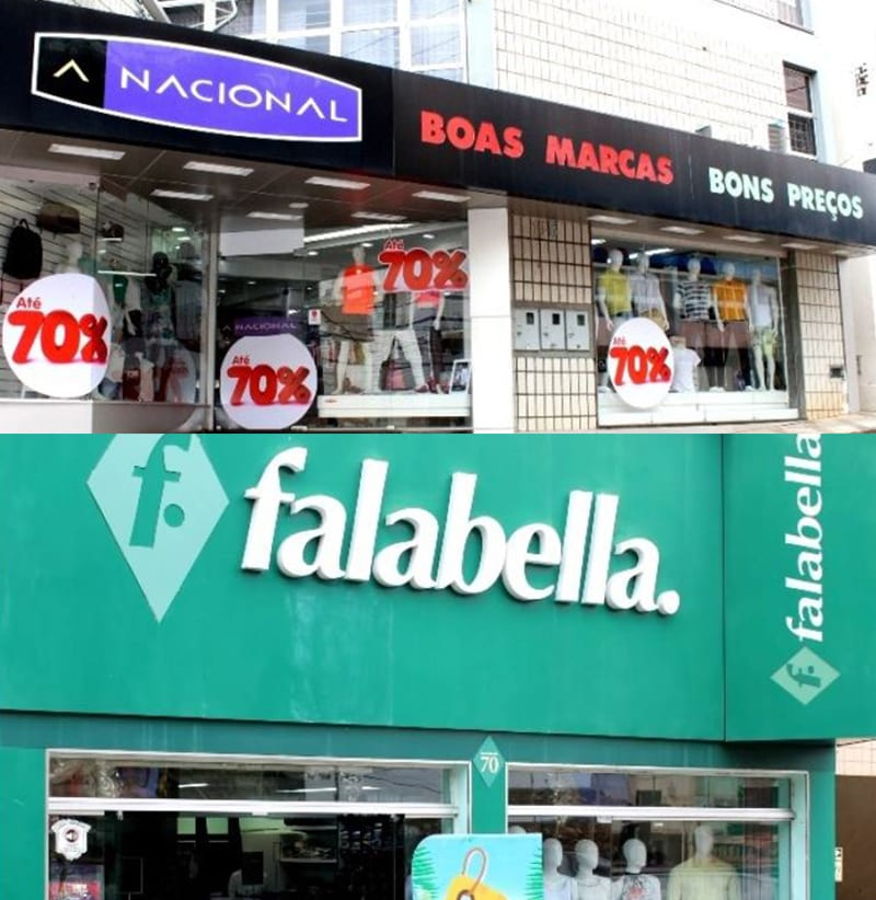 A Nacional e a Falabella com toda a loja em até 70% de desconto