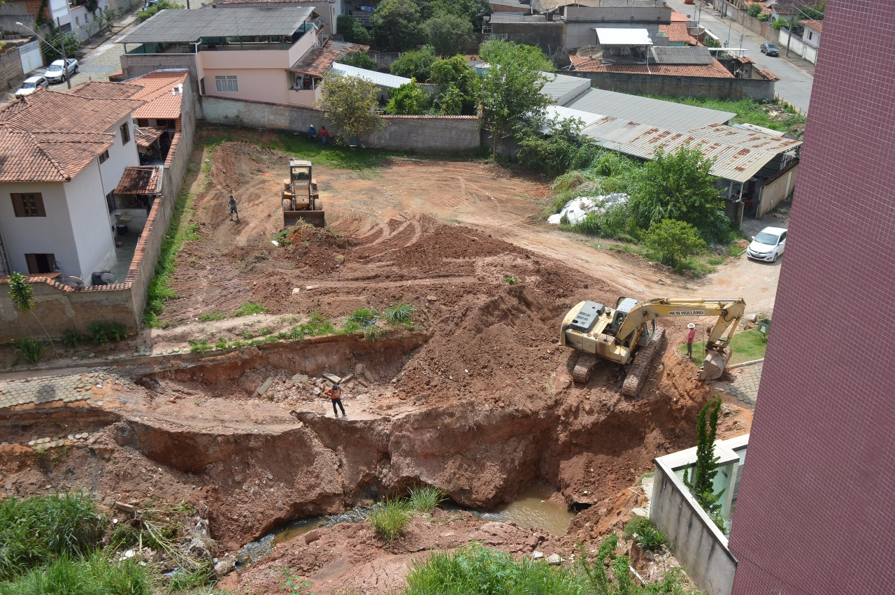 Começam as obras de recuperação da avenida Rodrigues Alves, em Monlevade