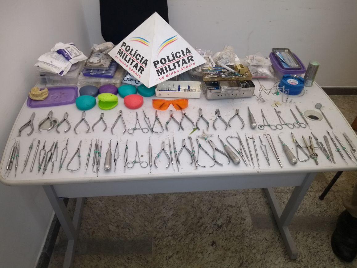 Maleta de dentista roubada, com produtos avaliados em R$ 50 mil, é recuperada pela PM na região