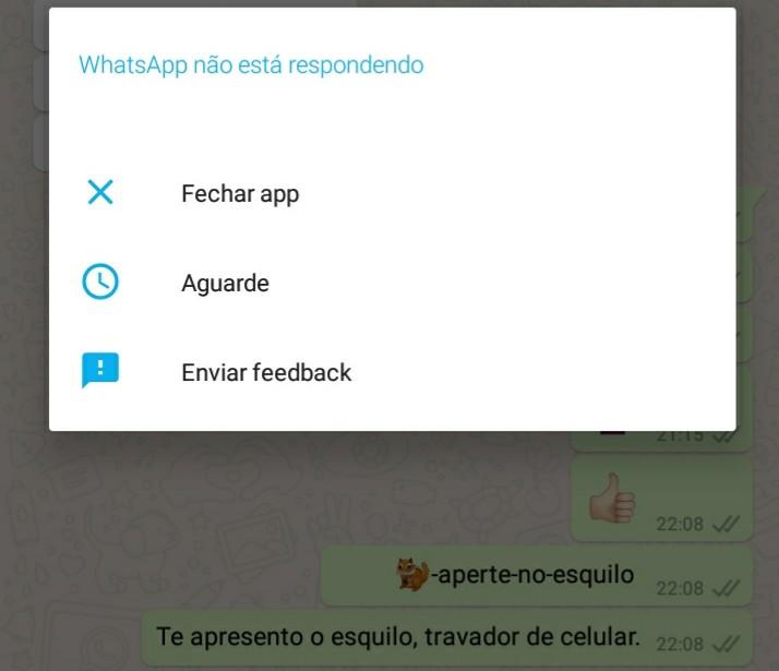 Bug do esquilo que trava o celular viraliza no WhatsApp