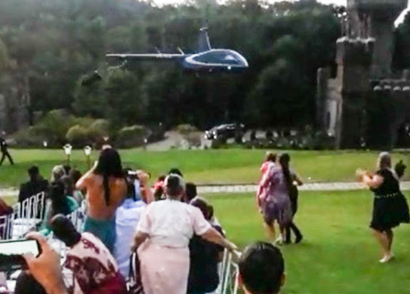 Susto: helicóptero que levava noiva ao casamento cai na chegada à cerimônia