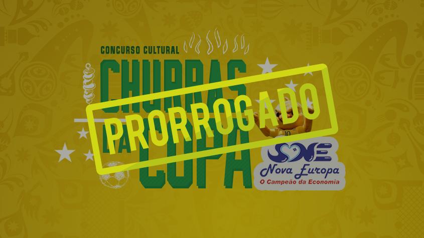 Concurso cultural 'Churras da Copa' é prorrogado nas oitavas de final