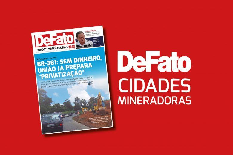 """Jornal """"DeFato Cidades Mineradoras"""" ganha novo projeto gráfico e editorial"""