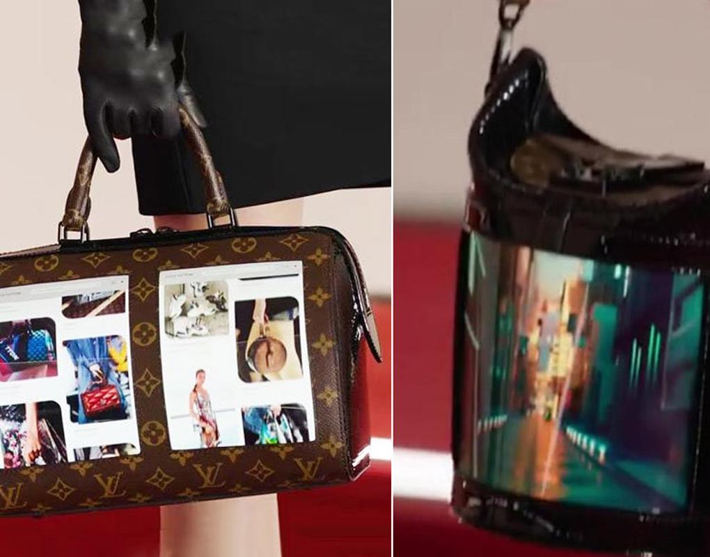 Bolsas com tela OLED flexíveis são o futuro da moda