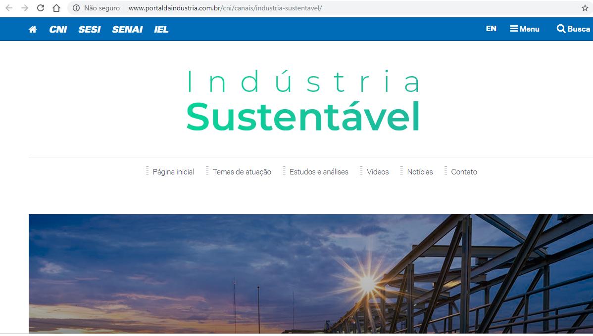 Novo site da CNI destaca atuação da indústria na agenda de meio ambiente e sustentabilidade