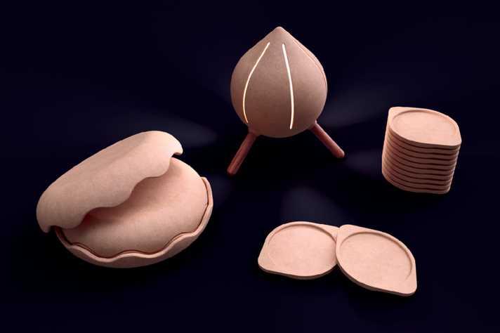 UFMG usa pó de madeira para criar luminárias, bandejas e vasos