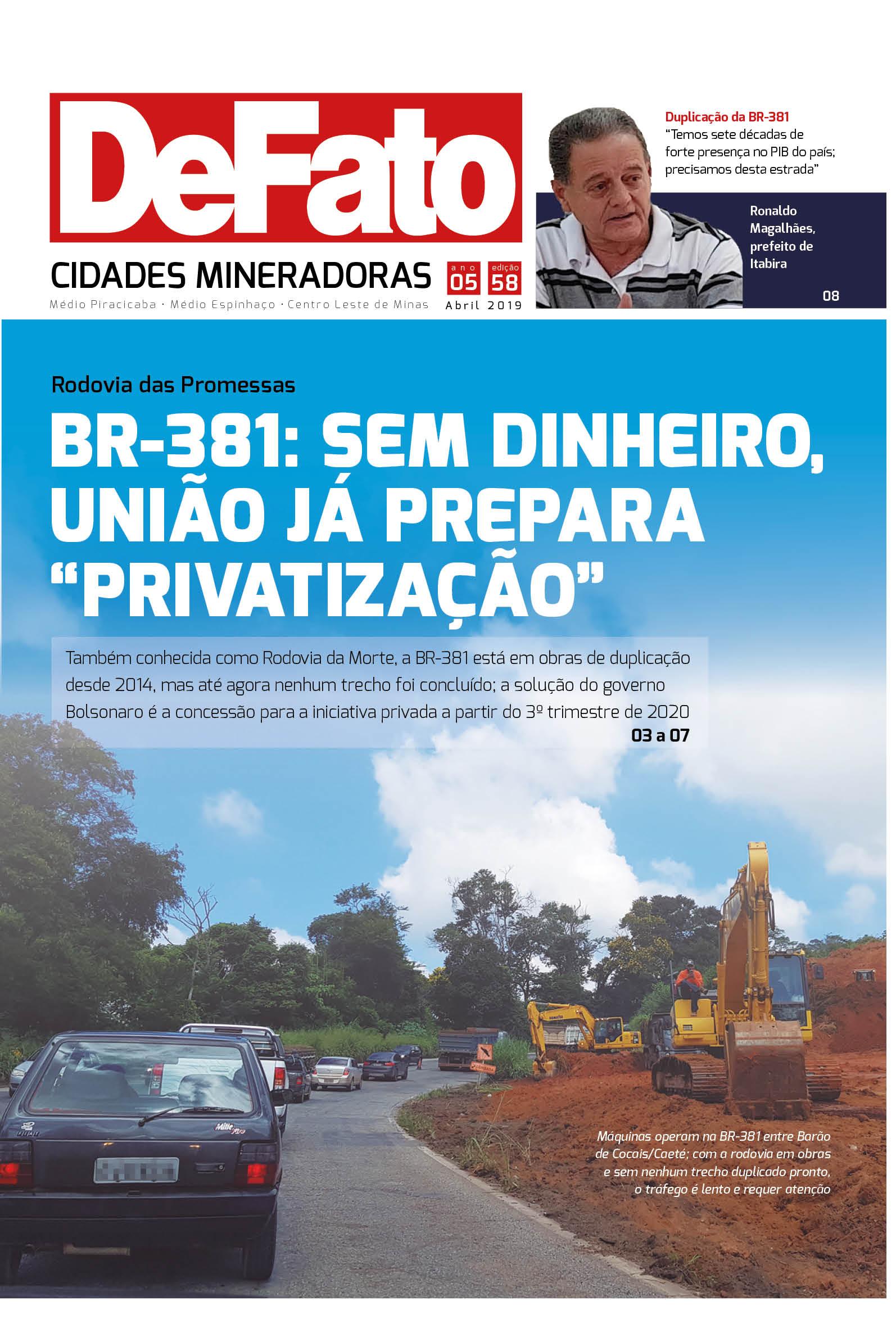 Jornal DeFato Cidades Mineradoras – Edição 58
