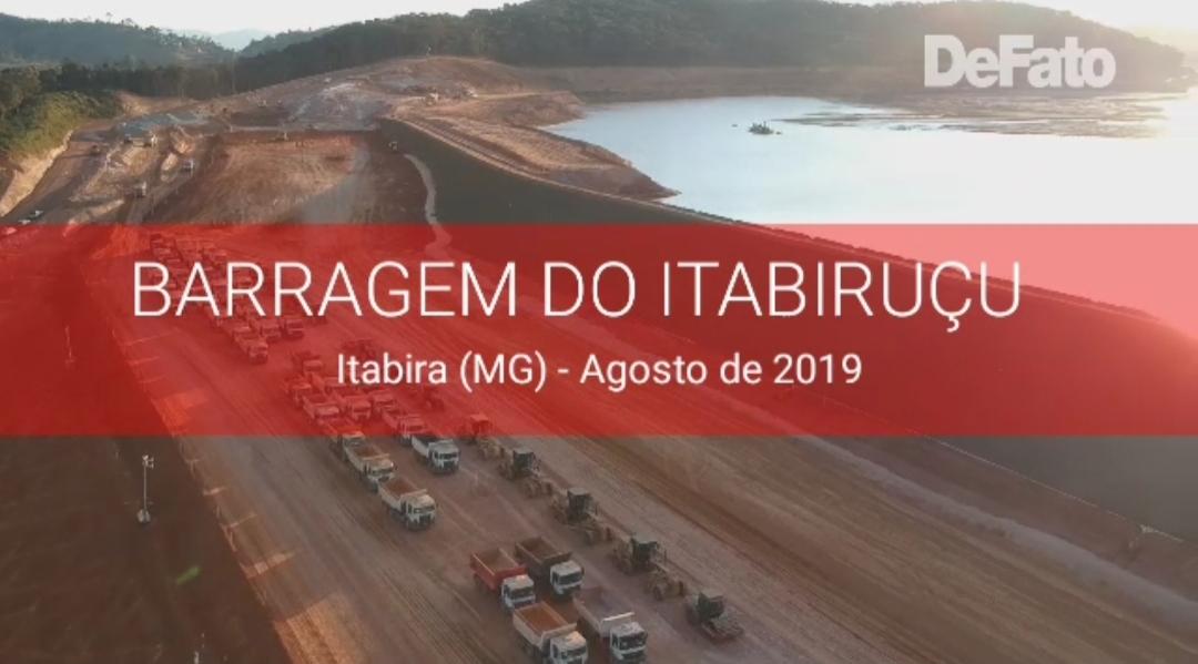 Imagem: Veja como se encontra a barragem do Itabiruçu às vésperas do simulado de evacuação