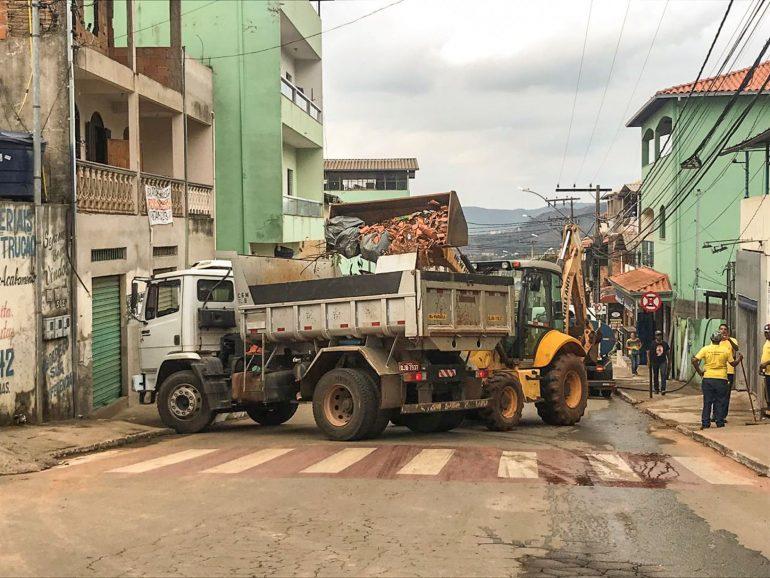 Prefeitura de Mariana se mobiliza para reparar danos causados pela chuva