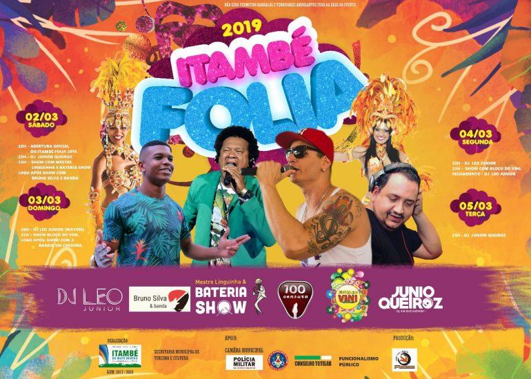 Itambé Folia promete animar foliões no Carnaval 2019