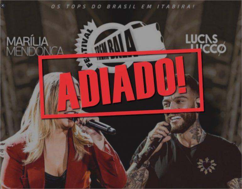 """Produção alega """"motivos alheios"""" e adia shows de Marília Mendonça e Lucas Lucco em Itabira"""