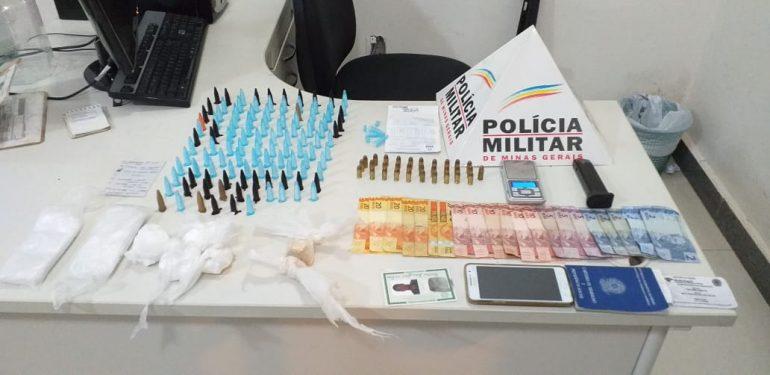 Policia Militar apreende drogas e munições em Itabira