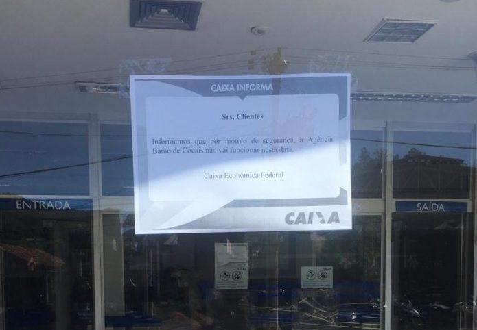Caixa Econômica e Correios voltam a funcionar na segunda-feira em Barão de Cocais