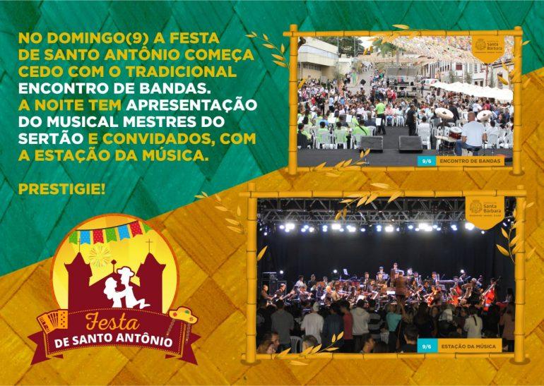 Festa de Santo Antônio começa com comidas típicas e shows em Santa Bárbara