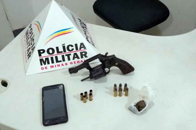 Após disparos, Polícia Militar apreende arma e drogas no bairro Hamilton