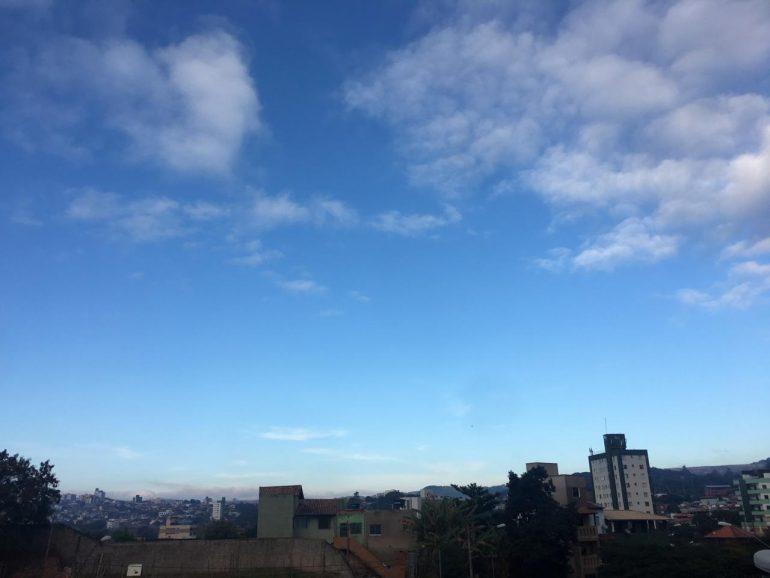 Confira a previsão do tempo para Itabira e região nesta quinta-feira