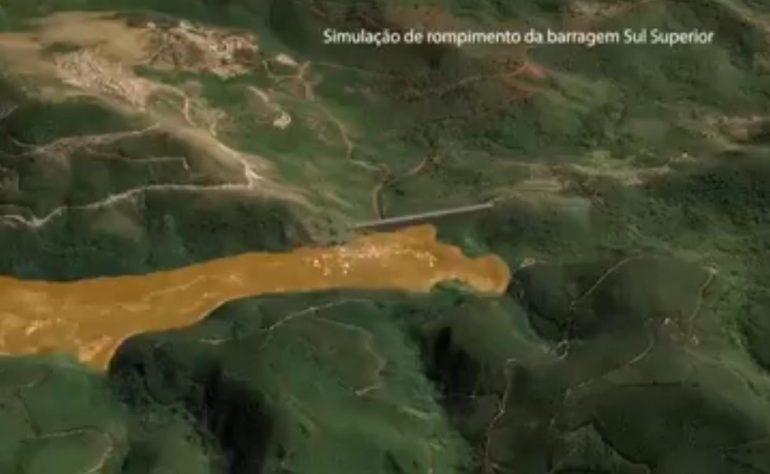 Vídeo da Vale mostra como muro evitará a chegada da lama em Barão de Cocais – VEJA VÍDEO