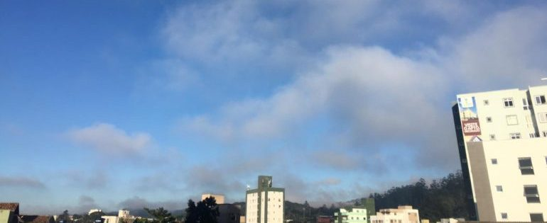 Confira a previsão do tempo para esta segunda-feira em Itabira e região