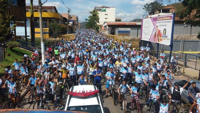 Polícia Militar realiza 4º passeio ciclístico em Barão de Cocais