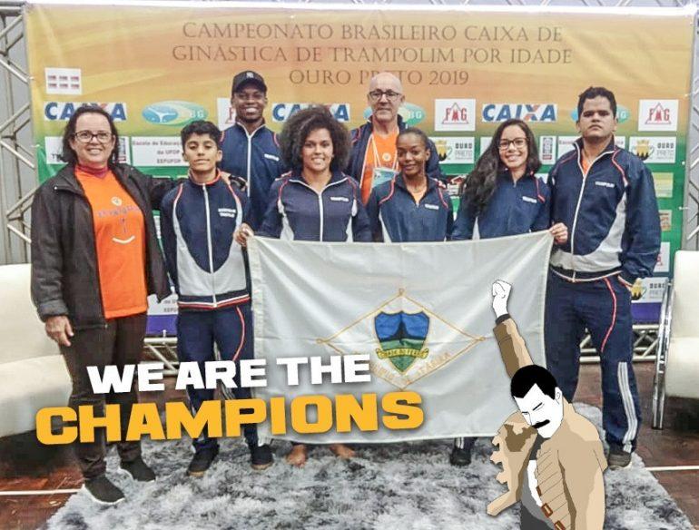 Itabira conquista três medalhas no Campeonato Brasileiro de Ginástica de Trampolim