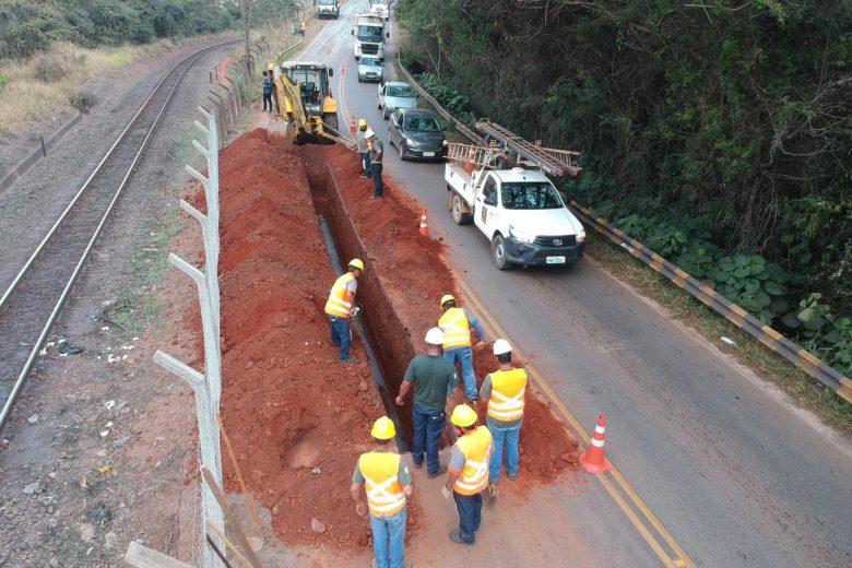 Construção do anel hidráulico interdita parcialmente Estrada 105