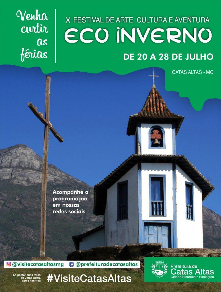 Eco Inverno de Catas Altas começa neste mês com programação gratuita