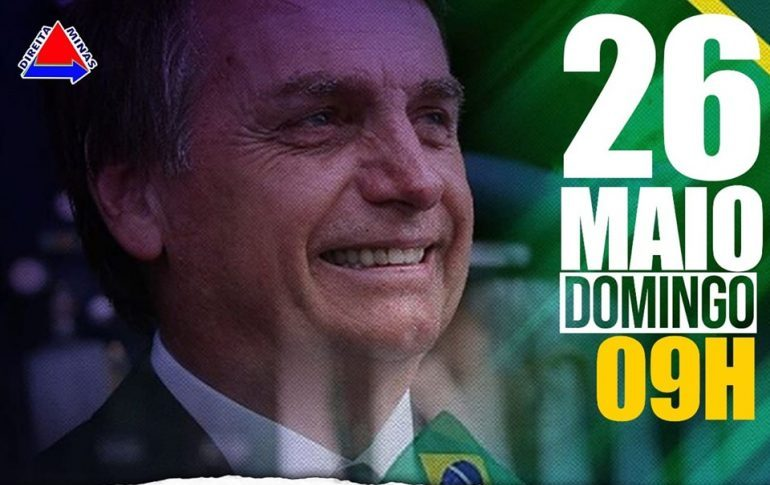 Itabira terá manifestação pró-Bolsonaro no domingo