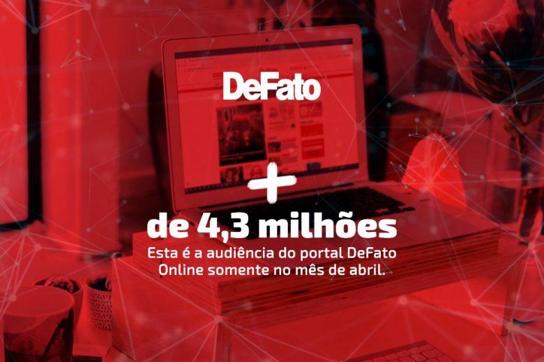 Em novo recorde histórico, DeFato Online registra mais de 4 milhões de acessos em abril