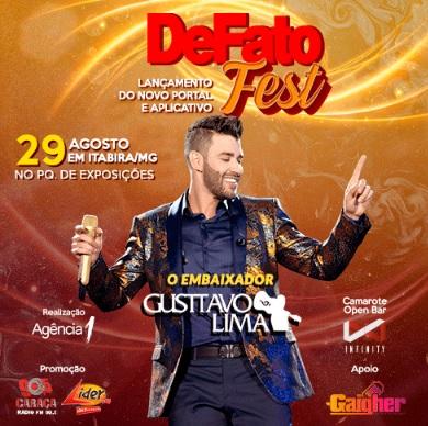 DeFato Fest: Gusttavo Lima em Itabira