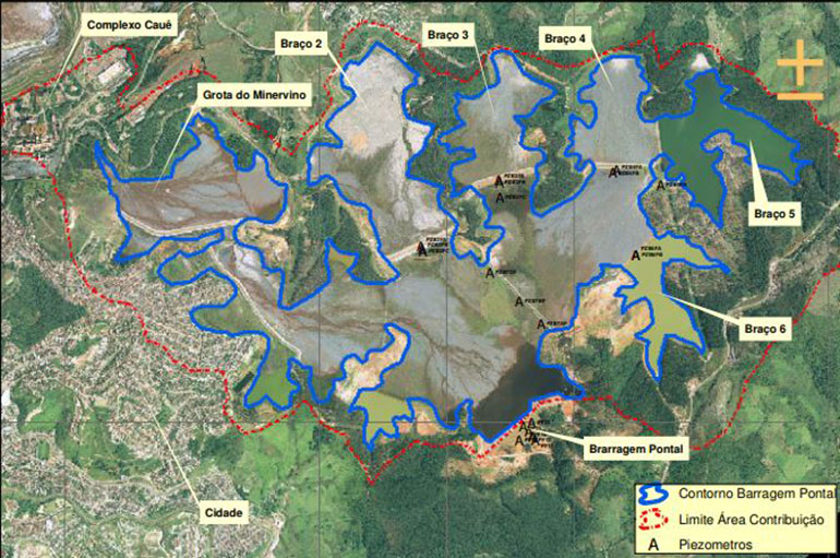 Entenda o funcionamento do Dique 02, estrutura que elevou a Barragem do Pontal, em Itabira, para nível 1 de risco
