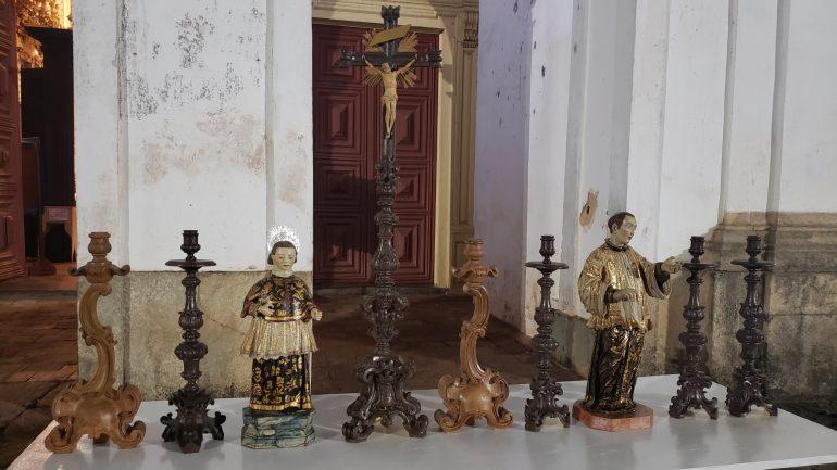 Capela de Santa Quitéria em Catas Altas recebe artes sacras restauradas