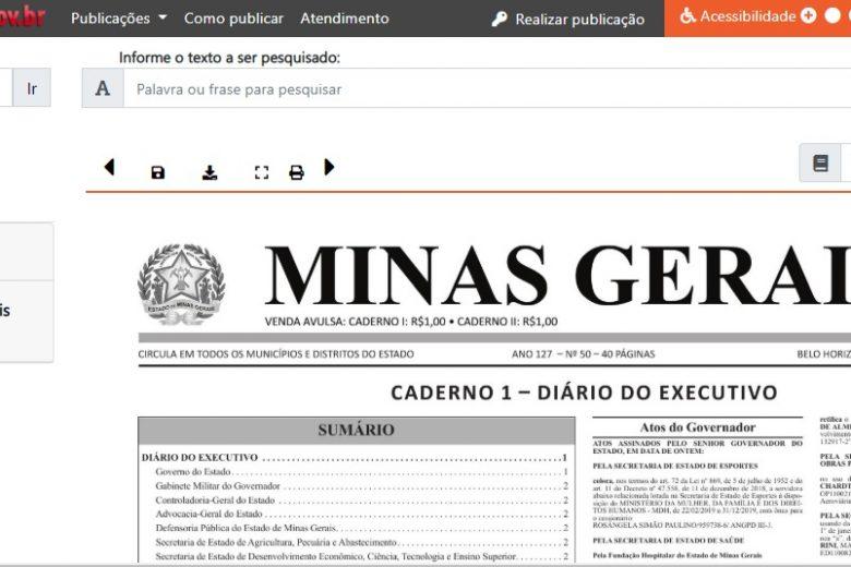 """Versão impressa do """"Minas Gerais"""" chega ao fim depois de 127 anos"""