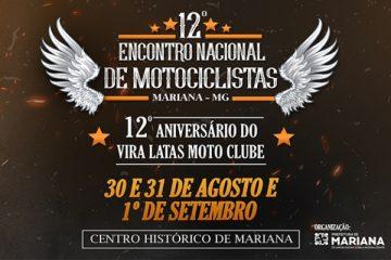 Praça Gomes Freire será palco do 12º Encontro de Motociclistas de Mariana