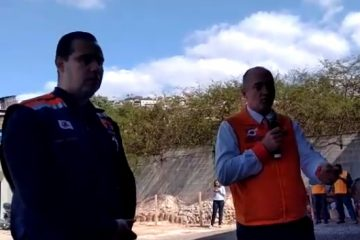 Equipe da Defesa Civil de Santa Catarina acompanha simulado
