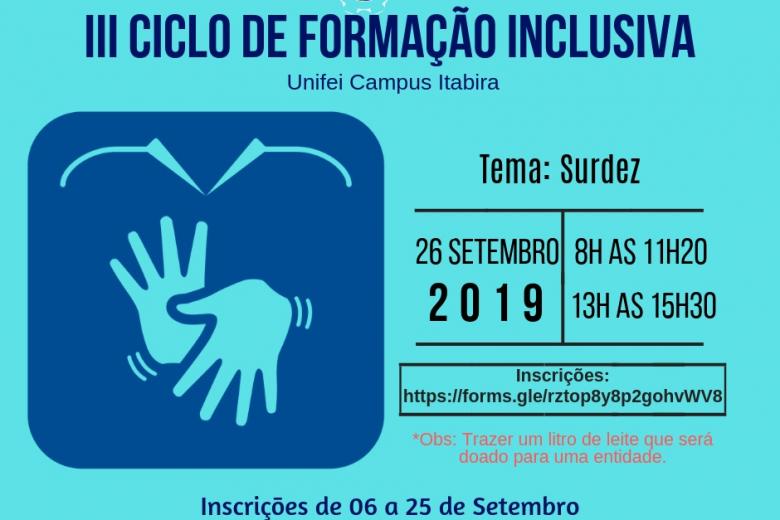 Unifei promove III Ciclo de Formação Inclusiva em Itabira