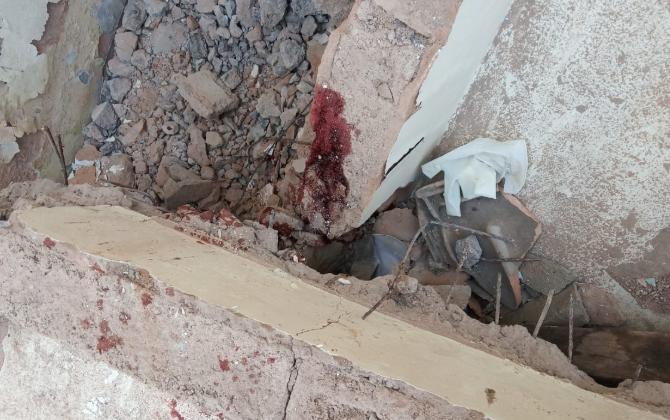 Laje cai e deixa dois homens gravemente feridos em Monlevade