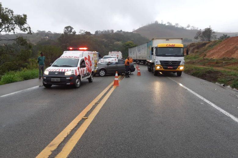 Acidente na BR-381 deixa uma vítima fatal e interdita o trânsito nesta quinta (10) – ATUALIZADA