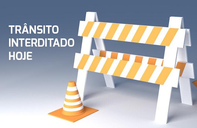 Confira as interdições no trânsito previstas para esta quarta, 23