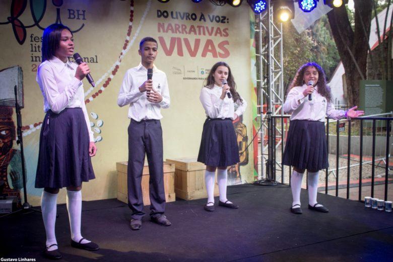 Drummonzinhos encantam público naFeira Literária Internacional de BH