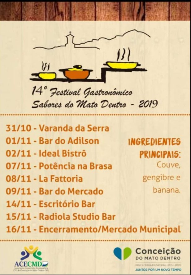 14º Festival Gastronômico Sabores do Mato Dentro