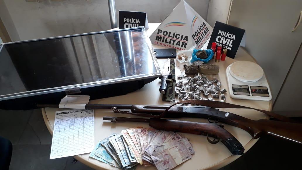 Operação conjunta combate o tráfico de drogas em Itabira e Santa Maria de Itabira