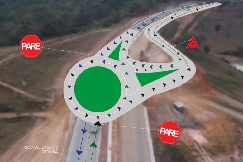 Dnit alerta para mudanças no tráfego na BR-381 no acesso a Itabira