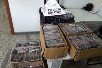 PM apreende mais de três mil CD's e DVD's piratas em Barão de Cocais