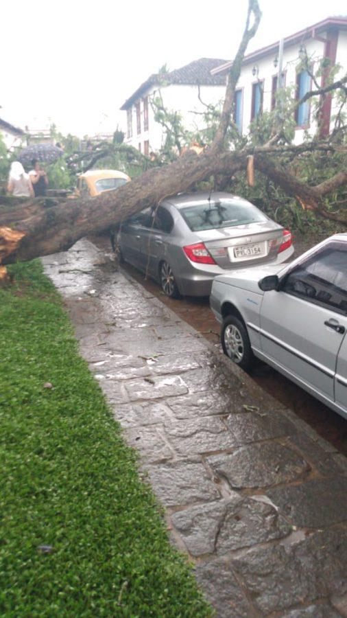 Estragos e prejuízos em Santa Bárbara devido às chuvas