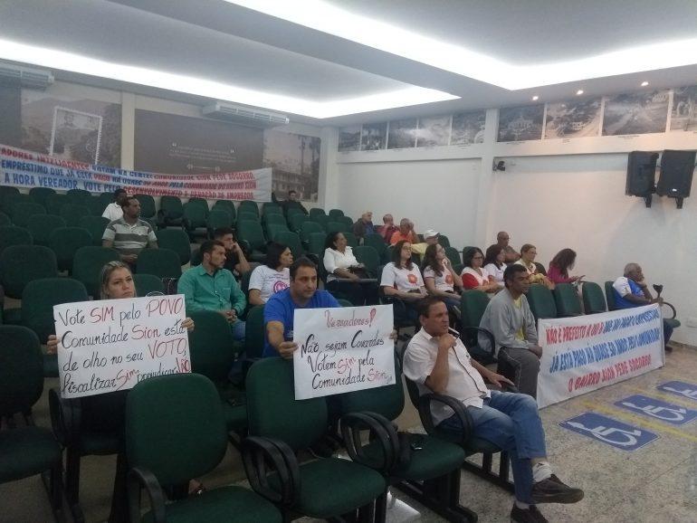 Mais uma reunião com manifestação de moradores do Sion na Câmara de Monlevade