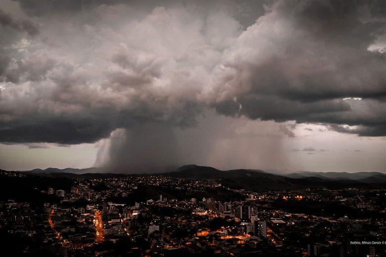 Sexta-feira será de chuvas intensas e estado de alerta em Itabira