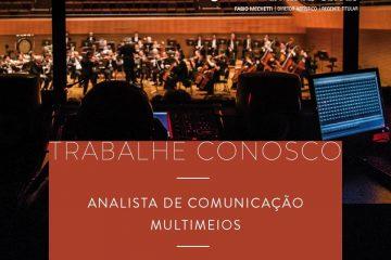 Instituto Cultural Filarmônica está com vaga aberta para Analista de Comunicação
