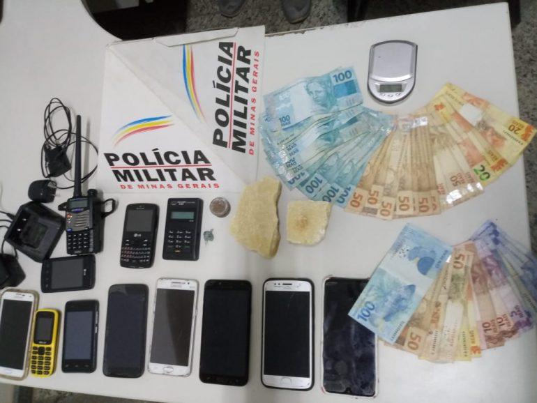 Operação da PM prende três traficantes em Barão de Cocais